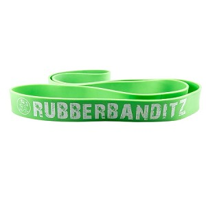 "Power (1 3/4 "") Rubberbandtz 41"" Resistance Band - Neon Green"