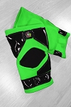 OG Tack Kneepads Long Style - Neon Green with Black Tack