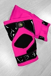 OG Tack Kneepads Long Style - Hot Pink with Black Tack