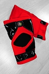 OG Tack Kneepads Long Style - Red with Black Tack