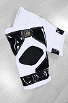 OG Tack Kneepads Long Style - White with Black Tack