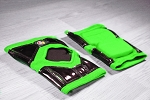 OG Tack Short Styled Kneepads - Green with Black Tack