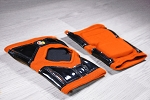 OG Tack Short Styled-Kneepads - Neon Orange