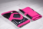 OG Tack Short Styled Kneepads - Hot Pink with Black Tack