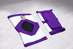 OG Tack Short Styled Kneepads - Purple with White Tack
