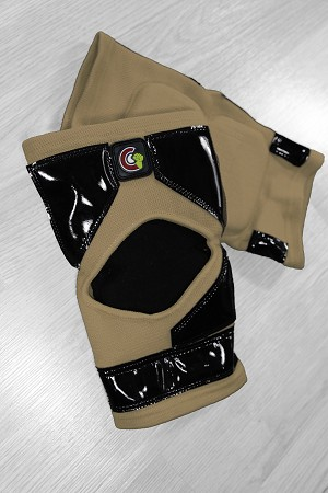 OG Tack Kneedpads Long Style - Tan with Black Tack