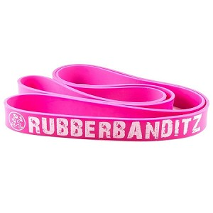 "Robust (1 1/8)   Rubberbanditz 41"" Resistance Band- Neon PINK"